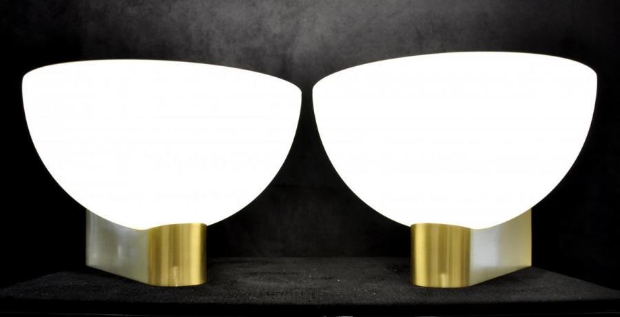 Genet & Michon Paire d'Appliques Design Circa 1940 , Plus d'infos...
