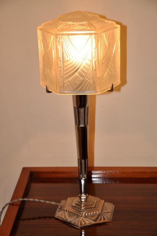 HETTIER & VINCENT LAMPE ART DECO 1930, Plus d'infos...