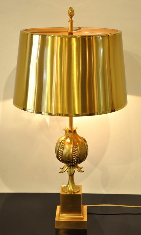 Maison Charles Lampe Grenade Bronze Doré Circa 1970 , Plus d'infos...