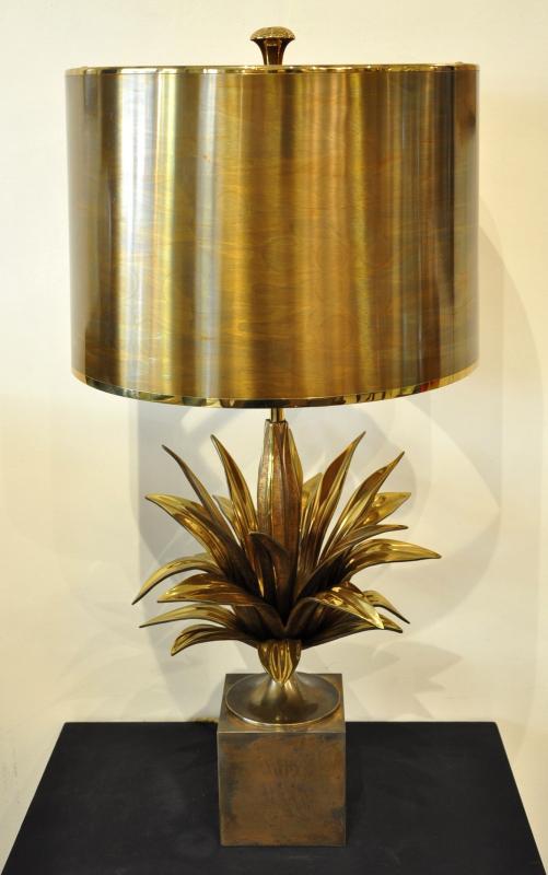 Maison Charles Lampe MODELE AGAVE  Bronze CIRCA 1960, Plus d'infos...