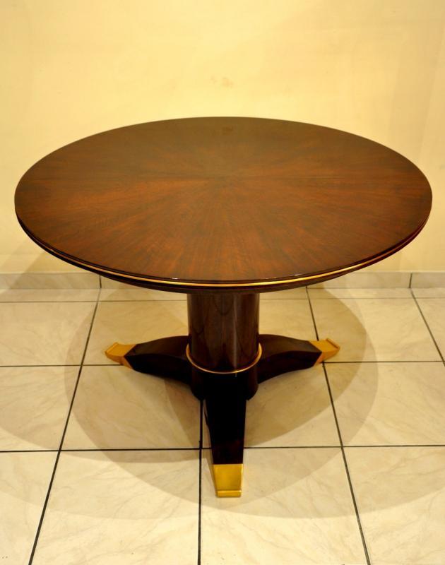 JULES LELEU TABLE Guéridon à système PALISSANDRE 1956, Plus d'infos...