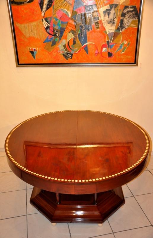 TABLE ACAJOU  ART DECO 1915-1920, Plus d'infos...