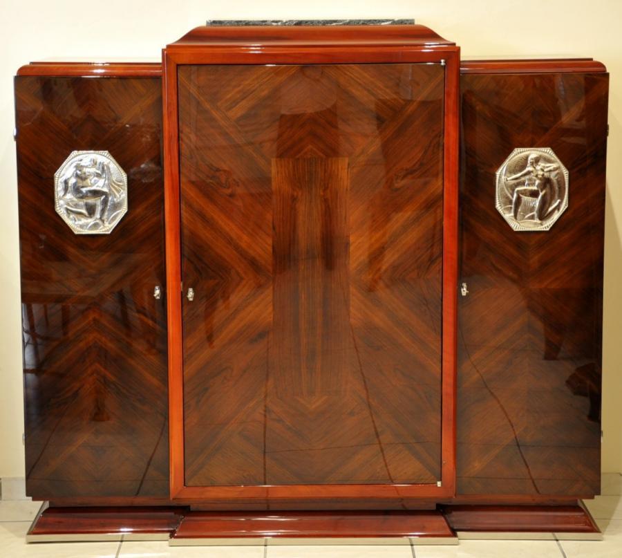 Jean Desnos Cabinet Palissandre Et Amarante Art Deco 1930 , Plus d'infos...