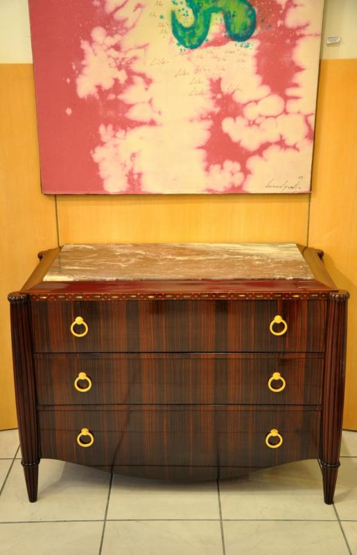 PAUL FOLLOT COMMODE MACASSAR AMARANTE ART DECO 1920-1925, Plus d'infos...