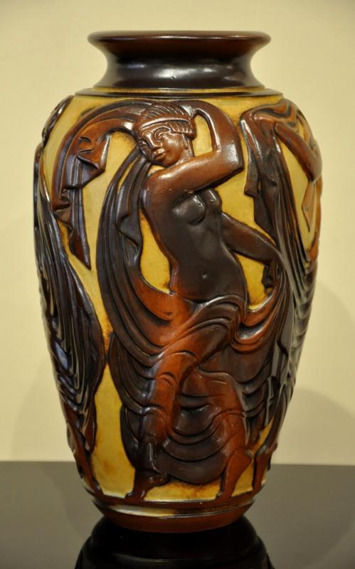 Mougin & Géo Condé Vase Céramique Art Déco 1930, Plus d'infos...