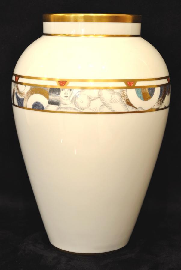 Bernardaud IMPORTANT VASE en Porcelaine Poudré Or Circa 1970 , Plus d'infos...