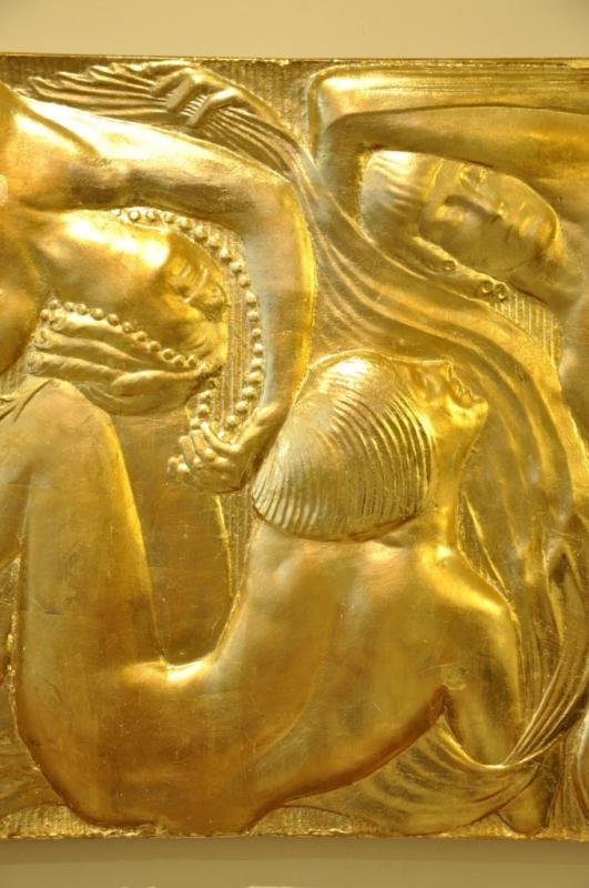BOURAINE MARCEL ANDRé BAS RELIEF  GILDED PLASTER ART DECO 1930, More Informations...