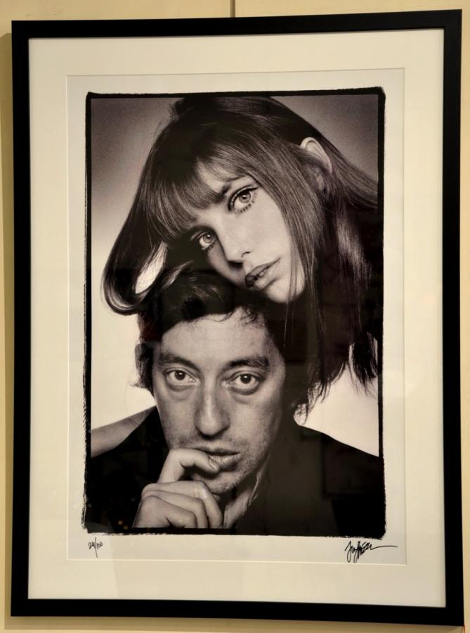 Gainsbourg & Birkin By Just Jaeckin Photo Silver Print From 1976 , More Informations...