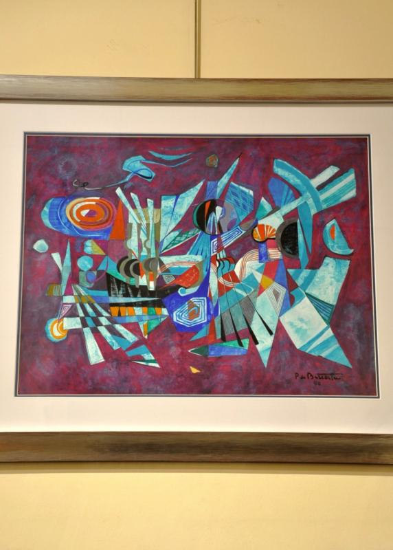 PIERRE DE BERROETA ABSTRACT ART GOUACHE AQUARELLE 1990, More Informations...
