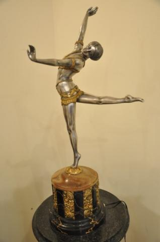 Depict of Two Gay Men Bronze Sculpture on Marble Base