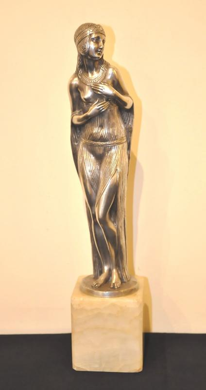 Joé DESCOMPS ENCHANTED SCULPTURE ORIENTALISTE BRONZE ART DECO 1920-1925, Plus d'infos...