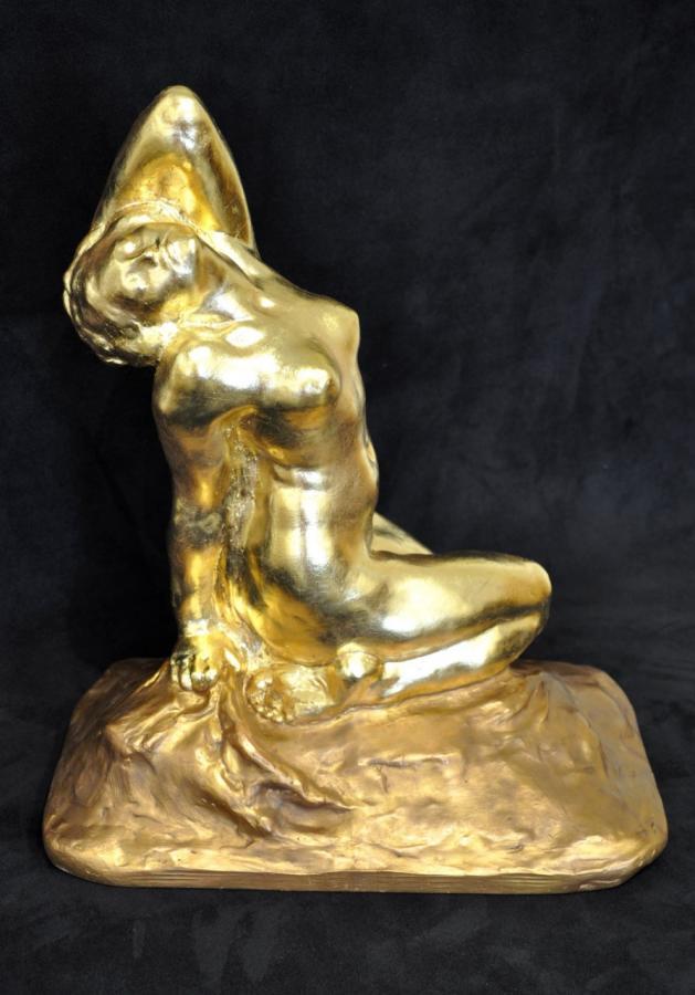 Amedeo Gennarelli Sculpture Terre Cuite Art Déco 1930, Plus d'infos...