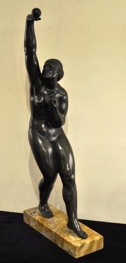 Georges Chauvel Sculpture Bronze Art Déco 1930, Plus d'infos...