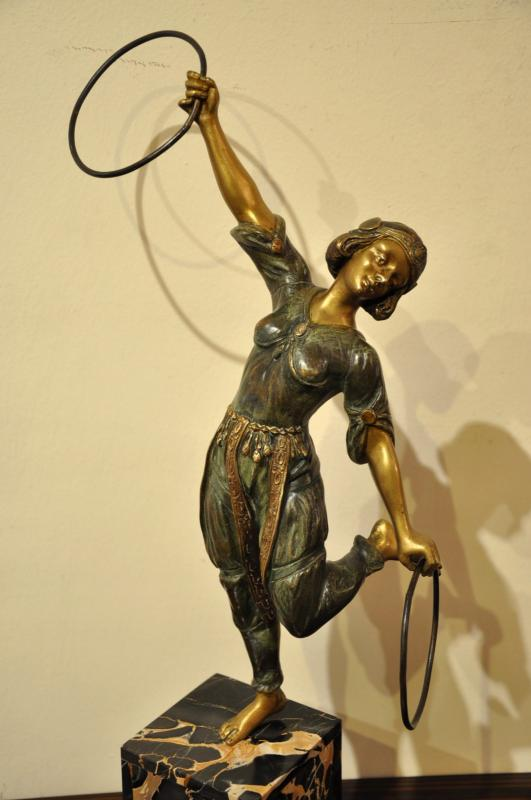 GEORGES FLAMAND SCULPTURE ORIENTALISTE BRONZE ART DECO 1920, Plus d'infos...