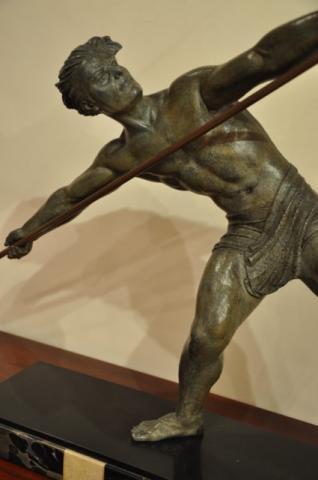 Louis Riché 2 Lionesses Art Deco Important Bronze