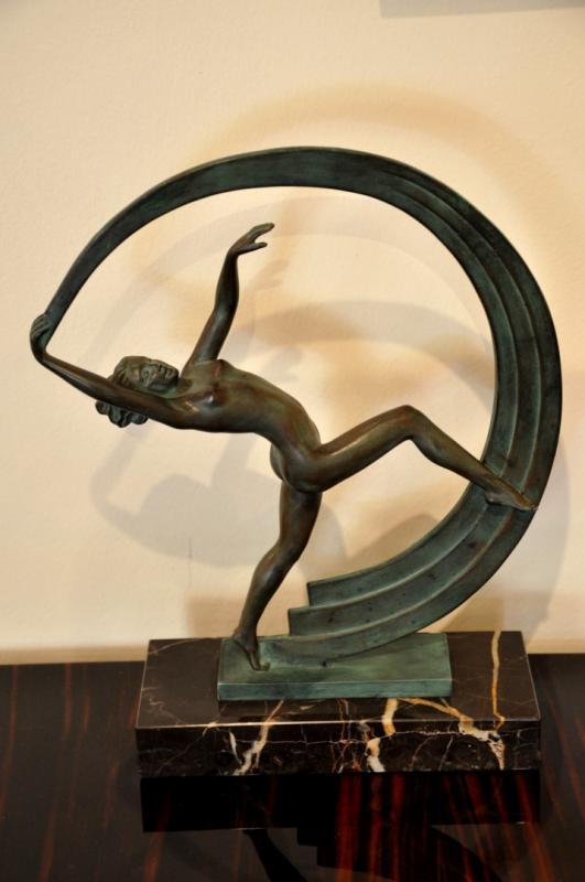 JANLE MAX LE VERRIER SCULPTURE BACCHANALE ART DECO 1930, Plus d'infos...