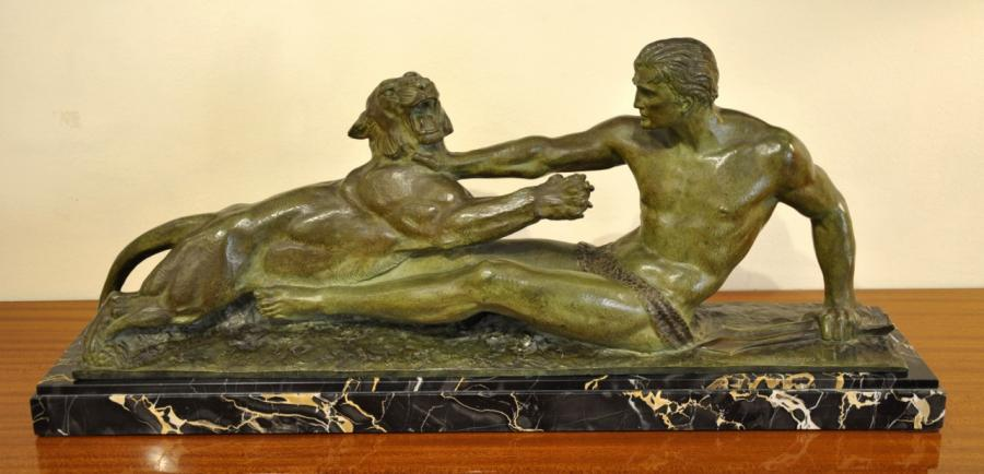 Jean Magrou Importante Sculpture Bronze Art D�co 1930 , Plus d'infos...