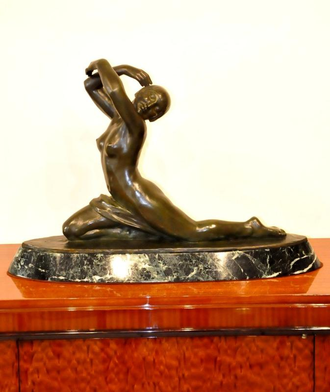 LUCIEN ALLIOT SCULPTURE BRONZE CIRE PERDUE ART DECO 1930, Plus d'infos...