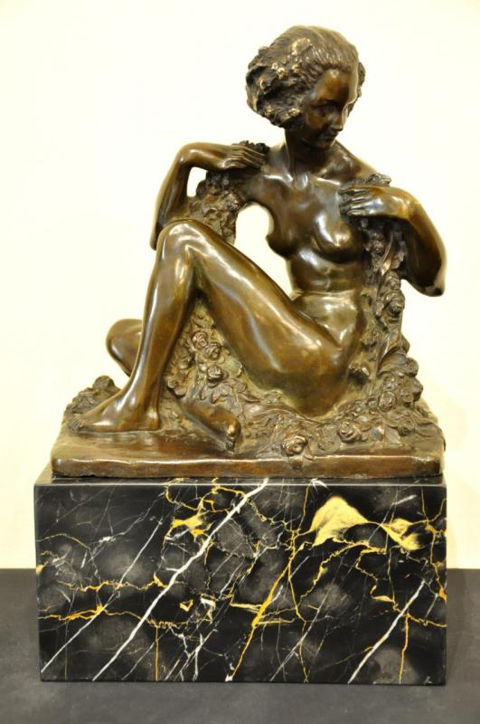 Marcel André Bouraine & Arthur Goldscheider Sculpture Bronze Art Deco  , More Informations...