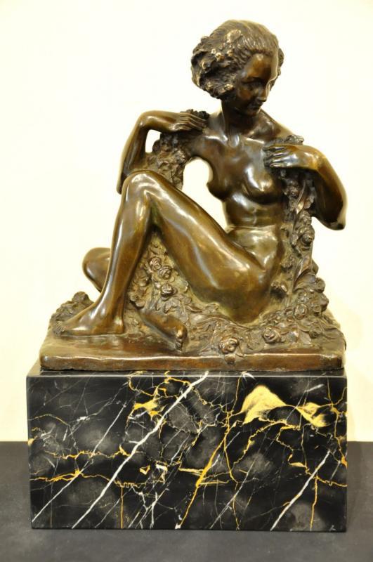 Marcel André Bouraine & Arthur Goldscheider Sculpture Bronze Cire Perdue Art Déco , Plus d'infos...