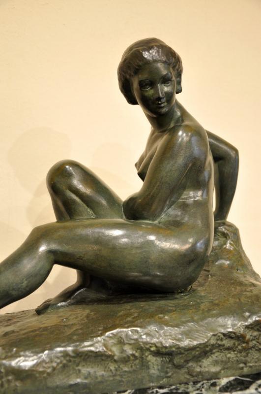 MARCEL BOURAINE SCULPTURE BRONZE BAIGNEUSE ART DECO 1920-1925, Plus d'infos...