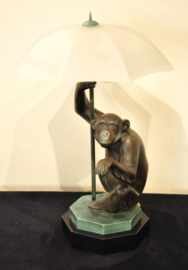 Max Le Verrier Sculpture Rain Lamp Art Deco 1927 , More Informations...