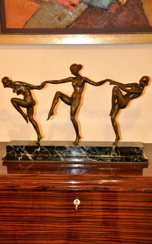 PIERRE LAUREL FARANDOLE  SCULPTURE BRONZE ART DECO 1930, Plus d'infos...