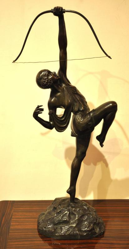 PIERRE LE FAGUAYS DIANE SCULPTURE BRONZE ART DECO 1930, Plus d'infos...