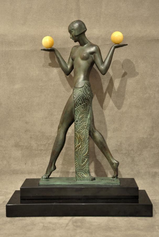 Raymonde Guerbe & Max Le Verrier Espana Aux Boules Art Déco 1930 , Plus d'infos...