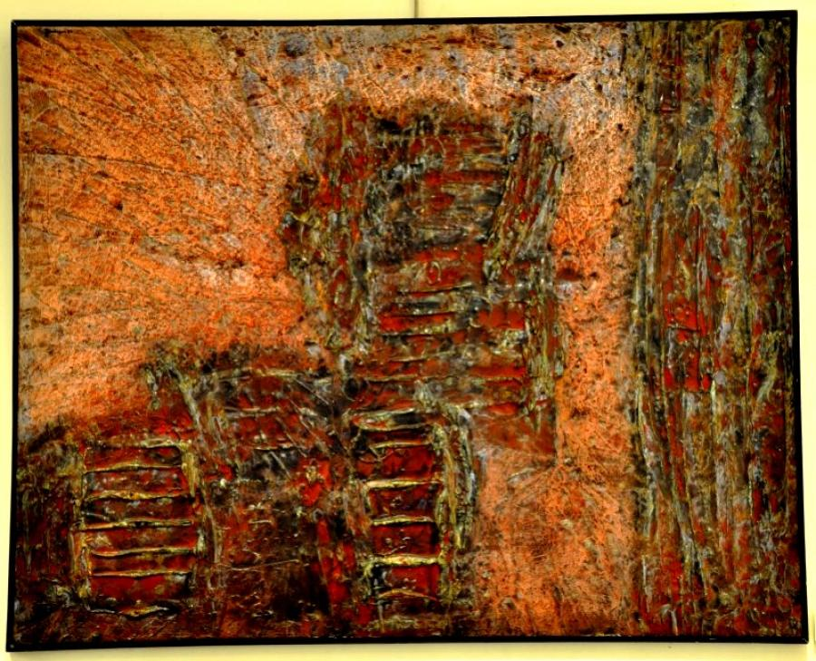 DUNCAN Joseph tableau expressionniste 1960, Plus d'infos...