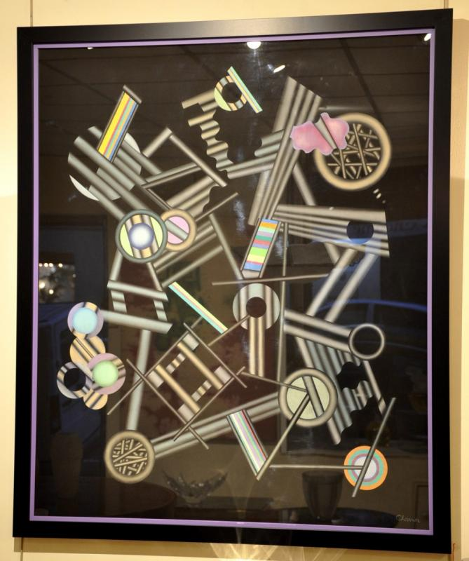 Jacques Charrier Composition Abstraite XXème Siècle , Plus d'infos...