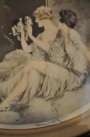 LOUIS ICART GRAVURE ORIGINALE ART DECO, Plus d'infos...