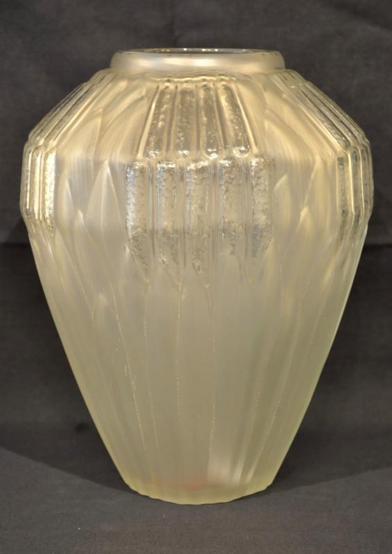 André Hunebelle Vase Roseaux Art Déco 1930 , Plus d'infos...