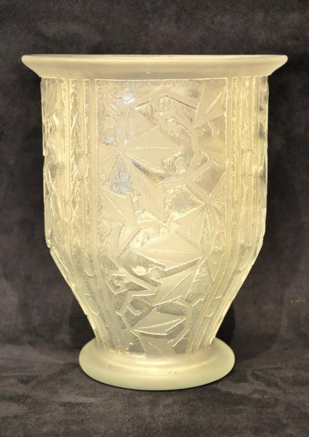 Daum Nancy France Vase Art Déco 1930, Plus d'infos...