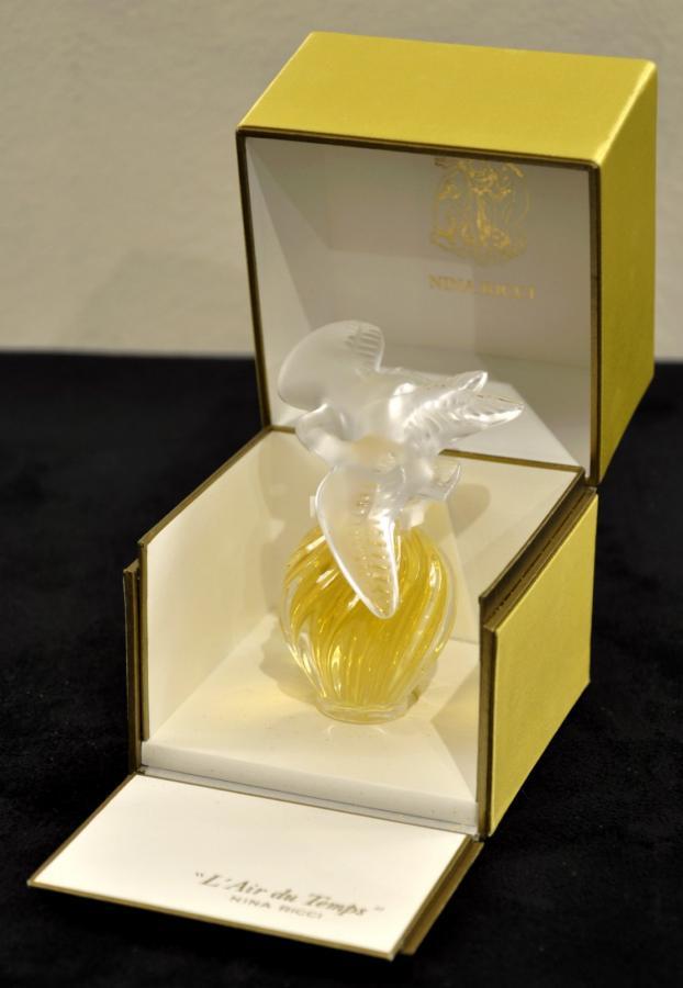 Nina Ricci Lalique l'Air Du Temps Flacon à Parfum Circa 1970, Plus d'infos...