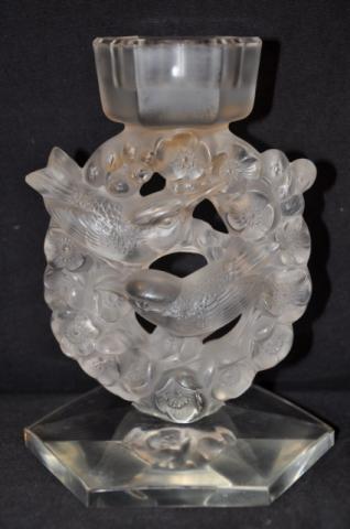 R.LALIQUE paire de chandeliers  MESANGES , Plus d'infos...