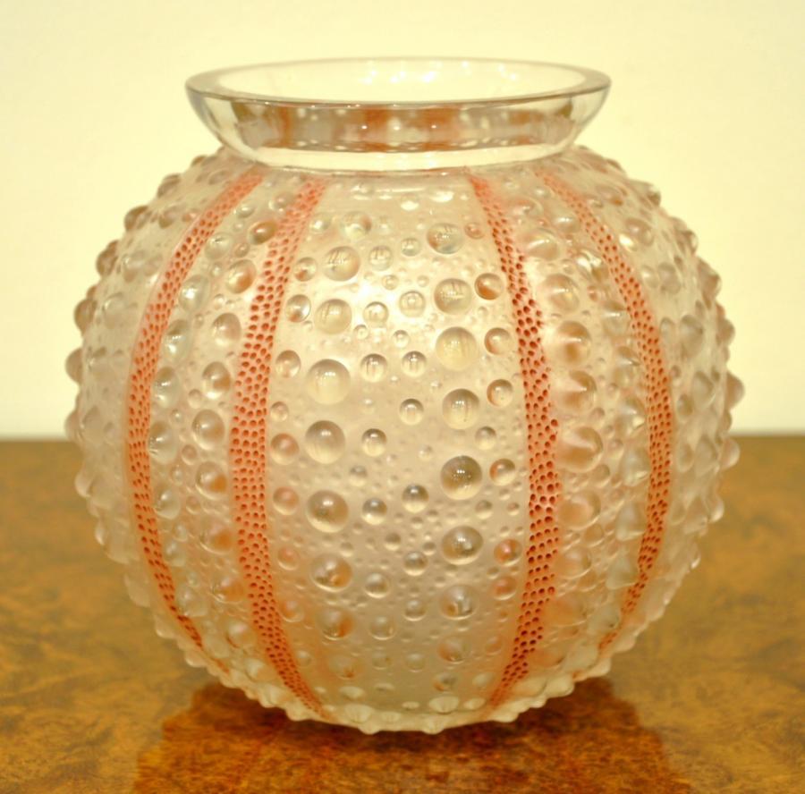 René Lalique Vase Oursin Art Déco 1935, Plus d'infos...